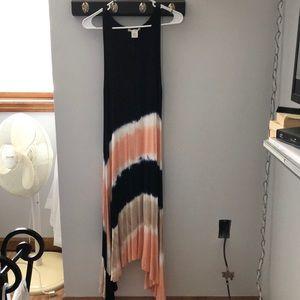 Super soft, summer, hi-lo maxi dress